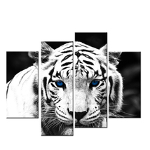 Black White Tiger 4 Piece Modern Print Poster Canvas Wall Art Home Decor - $35.90+