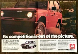 1988 Dodge Raider 4X4 Centerfold Print Ad Its Competition is Out of the ... - $12.69