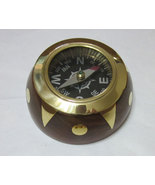 Compasses 3 for price of 1 Domed Wood with Brass face inserts Plus Free... - $9.99