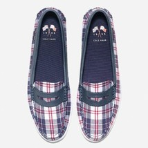 Women Cole Haan Size 7B Slip On Nantucket Loafer II Red White Madras Preppy - $26.17