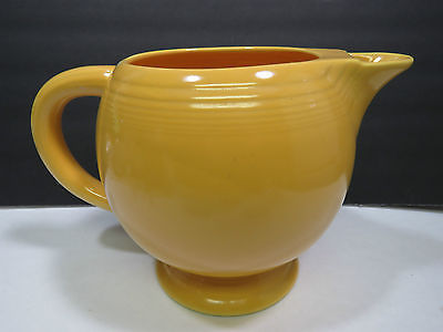 Primary image for Homer Laughlin China Pottery Vintage Fiesta Yellow Ice Lip Pitcher 1936-46