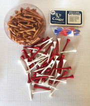 Vintage Lot of Wooden Golf Tees and Cougar Ball Spotters • FREE SHIPPING - $12.82