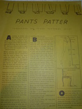Pants Patter Vogue Patterns 1972 Tips on Pant Making - $1.99