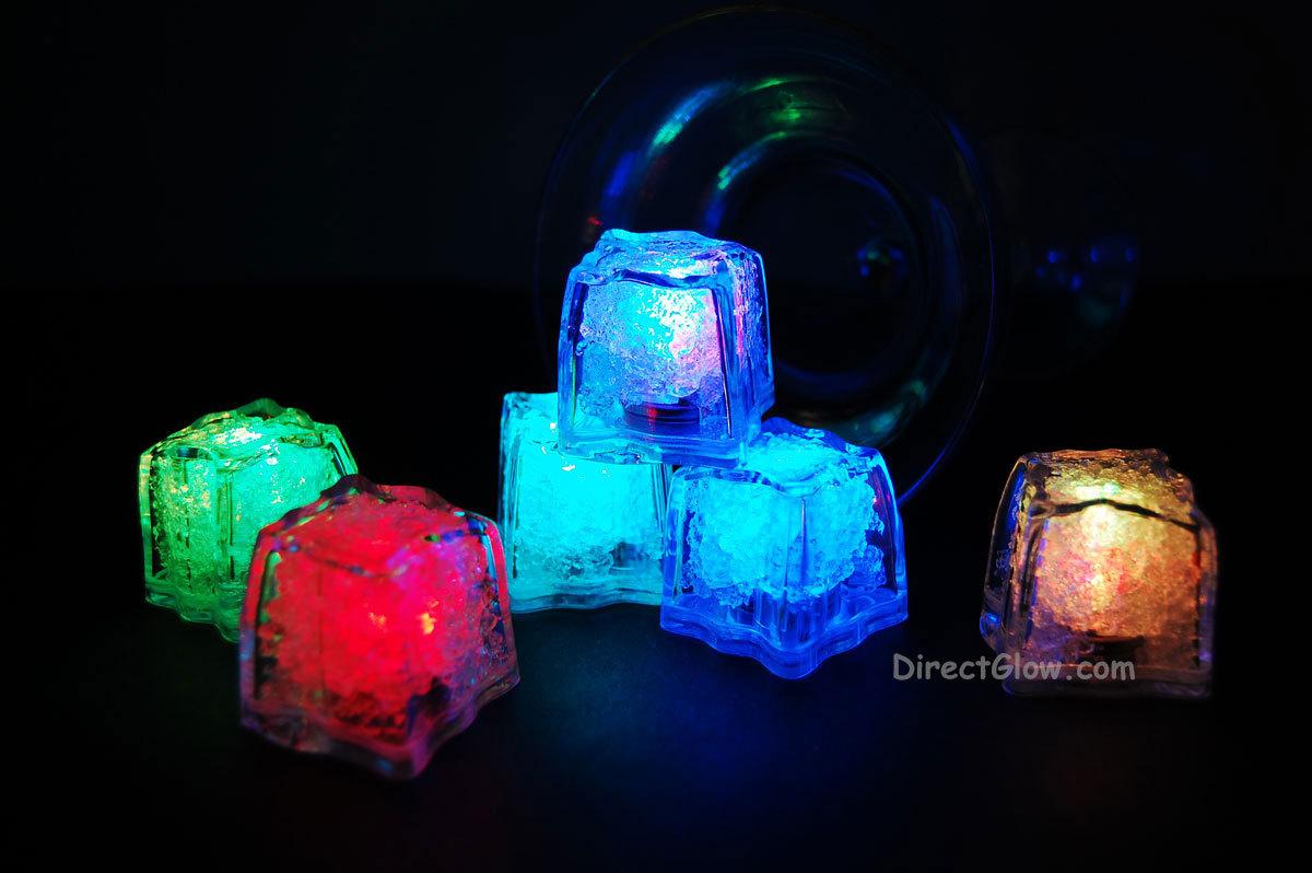 Set of 144 Litecubes Brand RAINBOW Light up LED Ice Cubes