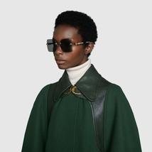 NEW Gucci Sunglasses GG0644S 001 Silver / Gray Lens Square 57mm - $315.25
