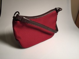 The Sak red knit purse leather bottom/strap. Sh... - $24.30