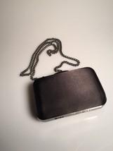 Forever 21 Black satin clutch. Elegant. Drop chain, Ships fast! C21 - $17.75
