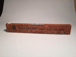 Vintage Montgomery Wards Power-Kraft Tools  Level/ruler. Good cond. ship... - $23.36