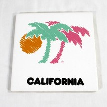 Vintage 1986 Pastel California Palm Trees Trive... - $9.89