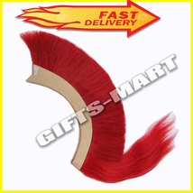 Red Plume Red Crest Brush New Natural Horse Hair For Greek Corinthian Helmet Ag4 - $25.00