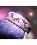 Haunted RING 3x 100 SACRED ENERGIES MAGICK 925 TRIBAL GOLD STONE WITCH C... - $59.77