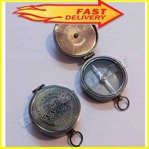 Antique Brass Compass With Calendar Kelvin & Hughes Vintage Nautical Mar... - $30.00
