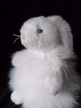 "Ty Classic 11"" Plush 2001 CASHMERE Blue Ribbon White Bunny Rabbit Retired - $15.63"