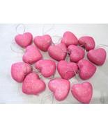 "Valentines Day Pink Glitter Hearts 1.5"" Ornaments Decorations Decor Set ... - $15.75"