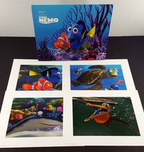 "Disney Store FINDING NEMO 4 Lithographs 11 x 14"" w/ Portfolio - $9.90"