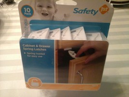 Safety 1st Cabinet & Drawer Spring Latches 10 pack Childproof Home NEW - $9.89