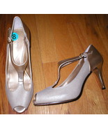 NEW $98 Womens Tahari Metallic Gold Heels Shoes... - $29.99