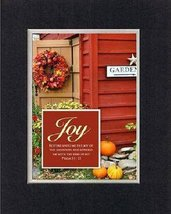 For Inspiration - Fall Joy . . . 8 x 10 Inches Biblical/Religious Verses set ... - $10.39
