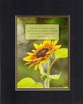 For Inspiration - Fall Sunflower. . . 8 x 10 Inches Biblical/Religious Verses... - $10.39