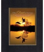 I Will Trust in the Lord - Hebrews 12:1-2. . . 8 x 10 Inches Biblical/Re... - $10.39