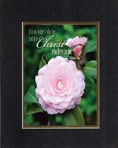 Christ who lives in me . . . 8 x 10 Inches Biblical/Religious Verses set... - $10.39