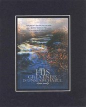 His Greatness is Unsearchable - Psalm 145:2,3. . . 8 x 10 Inches Biblical/Rel... - $10.39