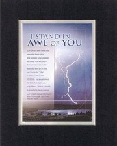 I Stand in Awe of You - Psalm 150:6. . . 8 x 10 Inches Biblical/Religious Ver... - $10.39