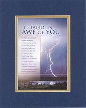 I Stand in Awe of You - Psalm 150:6. . . 8 x 10 Inches Biblical/Religious Ver... - $19.95