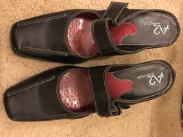 A2 Aerosoles Size 8 B Black Slip Ons W Womens H... - $15.43