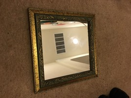 Green and Yellow Framed Mirror 10 X 10 - $13.10