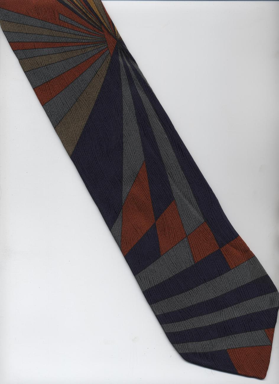handmade daniel craig tie black gray brown orange