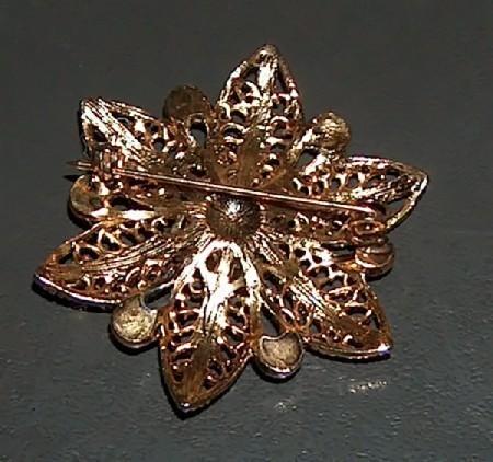 Filigree Star Flower Pin