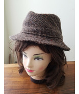 Vintage Hats of Ireland Castlebar 100% Pure Wool Donesal Tweed Men's L H... - $29.65
