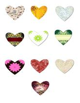 10 Flowers and Outdoor Hearts HA-Digital Clipart - $2.00