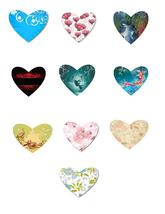 10 Flowers and Outdoor Hearts-Digital Clipart - $2.00