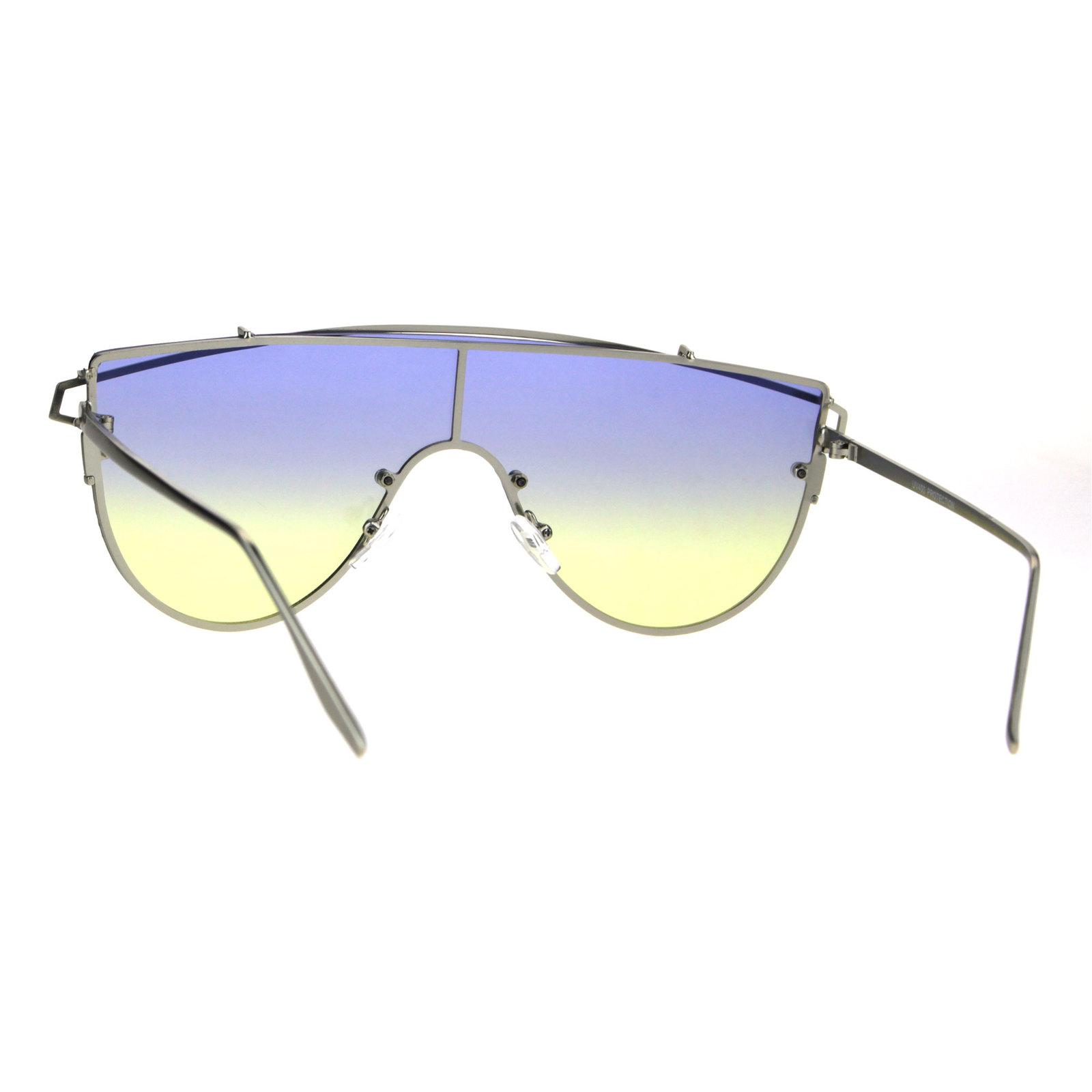 Oceanic Tie Dye Gradient Shield Robotic Futurism Sunglasses