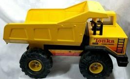 Nice Clean 1980s Tonka Turbo Diesel Dump Truck Pressed Steel Parts XMB-975 Tires - $60.75