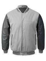 New Men's Premium Classic Snap Button Vintage Baseball Letterman Varsity Jacket image 13