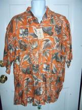Campia Moda Orange Hawaiian Print Short Sleeve Shirt Size XL Men's NEW  - $54.99