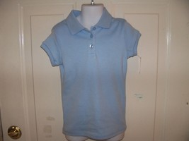 Chaps Light Blue School Approved Polo Shirt Size 5 Girl's NEW LAST ONE  - $22.99