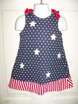 CRE8IONS STARS AND STRIPES DRESS SIZE 2T GIRL'S EUC - $35.99