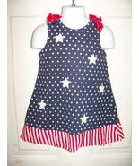 CRE8IONS STARS AND STRIPES DRESS SIZE 2T GIRL'S EUC - $15.39
