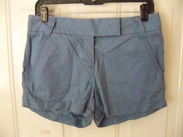 J. Crew City Fit Baby Blue Chino Shorts Size 2 Women's EUC - $18.63