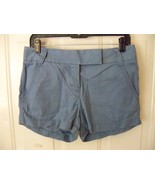 J. Crew City Fit Baby Blue Chino Shorts Size 2 Women's EUC - $17.94