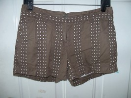 Ann Taylor Loft Brown Eyelet Shorts Size 2 Women's EUC - $17.94