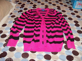 The Children's Place Pink/Black Striped Sweater Size 14 Girl's EUC - $13.99
