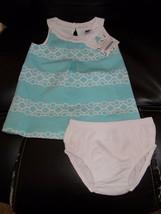 Janie & Jack South Beach Beauty Tile Print Dress Size 3/6 Months Girl's NEW - $61.99
