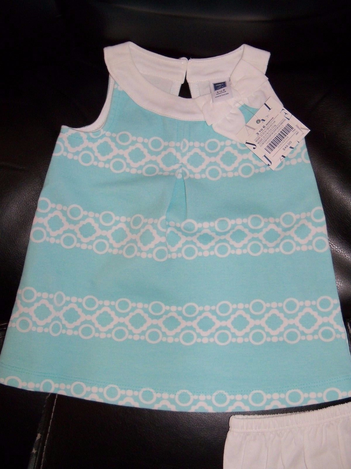 Janie and Jack SOUTH BEACH BEAUTY Pink Lime Print Top NWT 6-12 12-18 Baby Girl