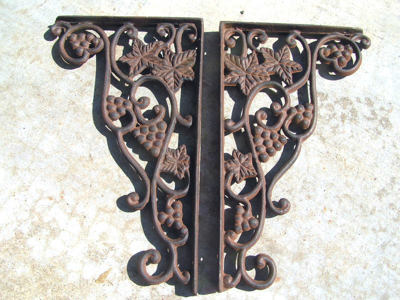 Cast Iron Brackets Kitchen Island Corbels GRAPE Corner