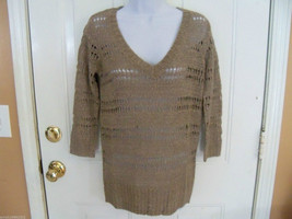 ELLE Natural Open Stitch Sweater Size Small Women's NEW LAST ONE  - $53.99